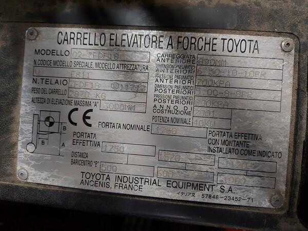 2#5851 Muletto diesel a forche Toyota in vendita - foto 4
