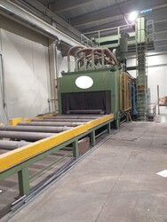 Shot blasting machine for sheets and profiles - Auction 5858