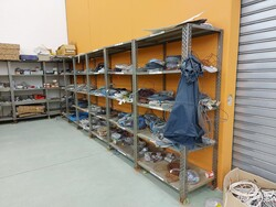 Metal shelving and pallet trucks - Lot 8 (Auction 5859)