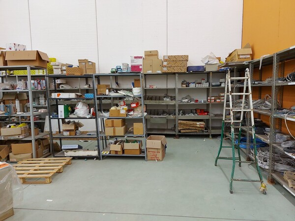 8#5859 Scaffalatura metallica e transpallet in vendita - foto 17