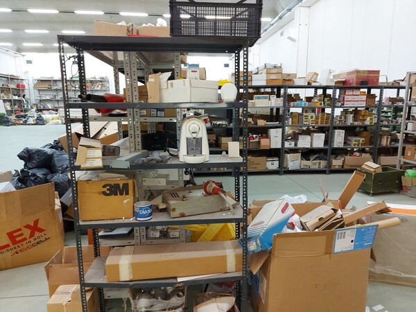 8#5859 Scaffalatura metallica e transpallet in vendita - foto 19