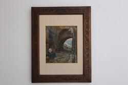 Dipinto L'Attesa - Lotto 1 (Asta 5936)