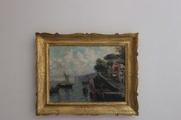 10#5936 Dipinto Veduta Di Porto in vendita - foto 2