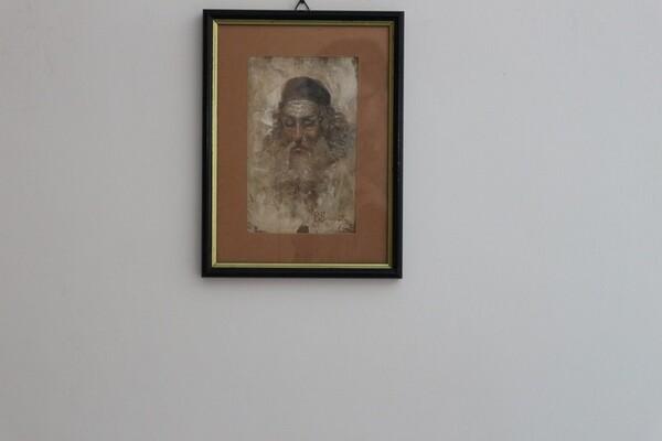 102#5936 Acquerello Ritratto Di Uomo Con La Barba in vendita - foto 1