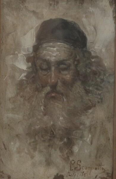 102#5936 Acquerello Ritratto Di Uomo Con La Barba in vendita - foto 2