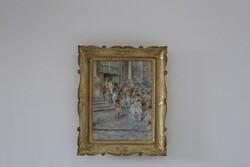 Dipinto L'Uscita Degli Sposi - Lotto 11 (Asta 5936)