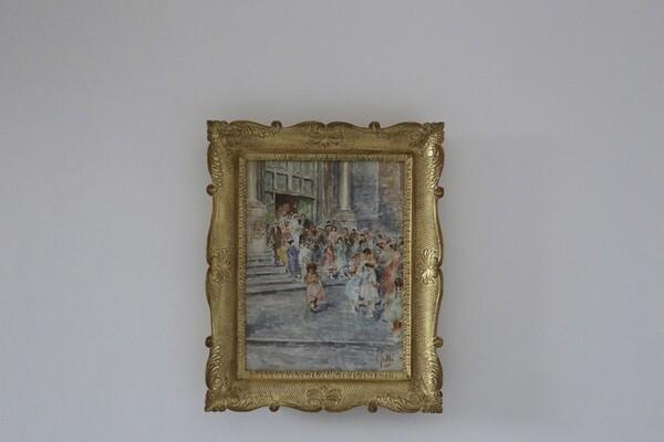 11#5936 Dipinto L'Uscita Degli Sposi in vendita - foto 1