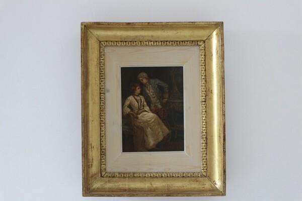 19#5936 Dipinto Scena Galante in vendita - foto 1