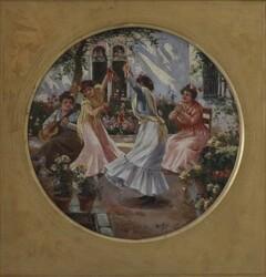 Dipinto La Tarantella - Lotto 2 (Asta 5936)