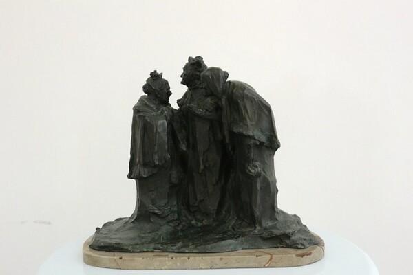 223#5936 Statuina Conversazione Tra Anziane in vendita - foto 1