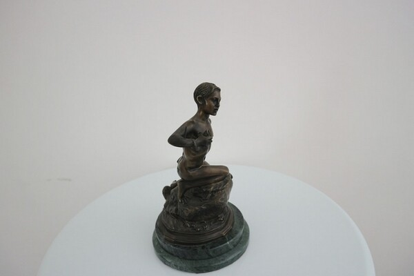 230#5936 Statuina Pescatorello Con Lunga Canna in vendita - foto 1