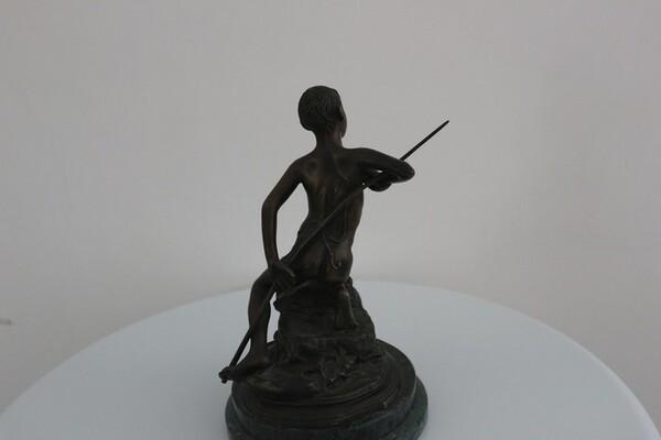 230#5936 Statuina Pescatorello Con Lunga Canna in vendita - foto 3