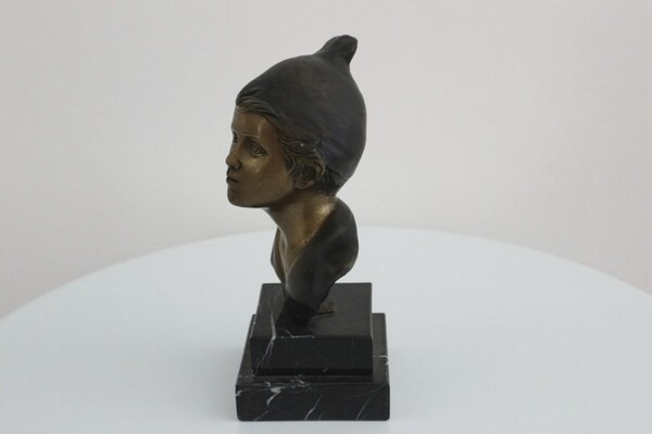 243#5936 Statuina Busto Di Giovane Pescatore in vendita - foto 3