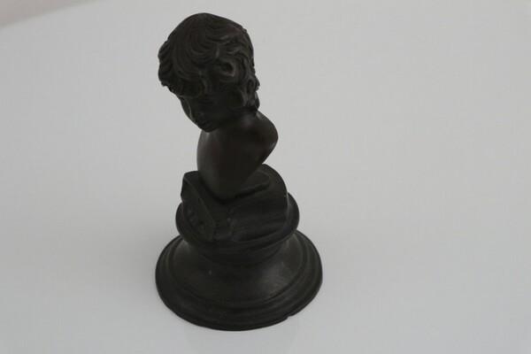 244#5936 Statuina Busto Di Antin S. Bronzo in vendita - foto 4