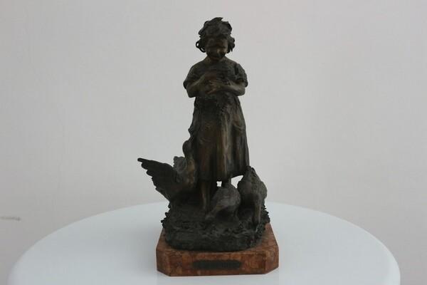 247#5936 Statuina Contadinella Tra Le Oche in vendita - foto 2