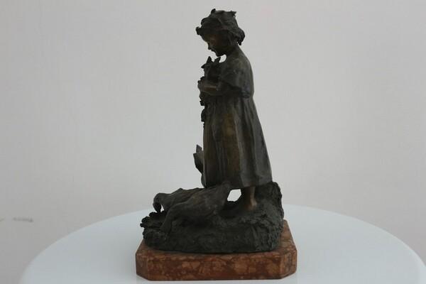 247#5936 Statuina Contadinella Tra Le Oche in vendita - foto 3