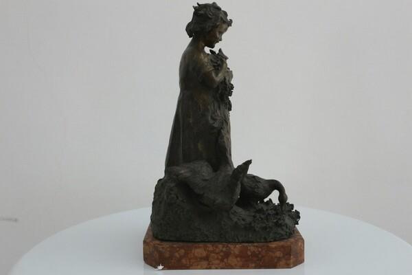 247#5936 Statuina Contadinella Tra Le Oche in vendita - foto 5