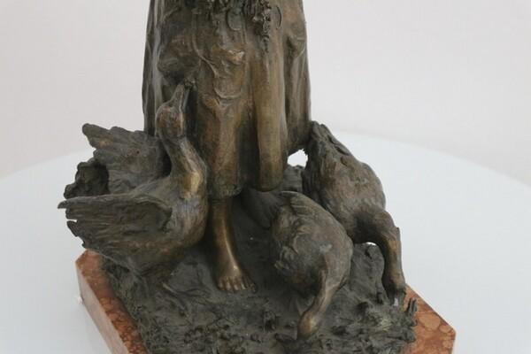 247#5936 Statuina Contadinella Tra Le Oche in vendita - foto 7