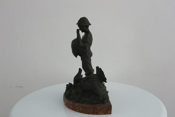 248#5936 Statuina Contadinello Con Tacchini in vendita - foto 3