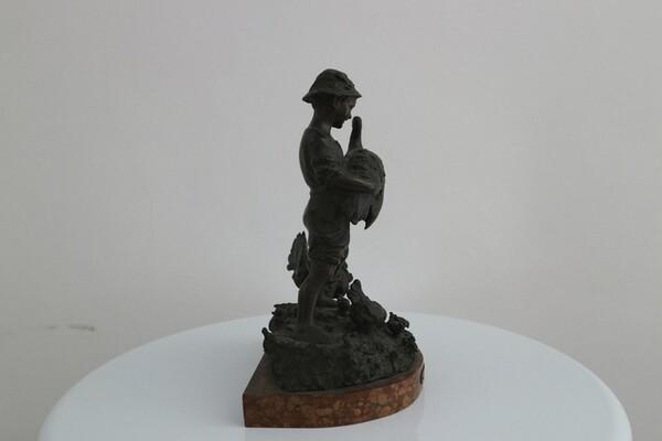 248#5936 Statuina Contadinello Con Tacchini in vendita - foto 5