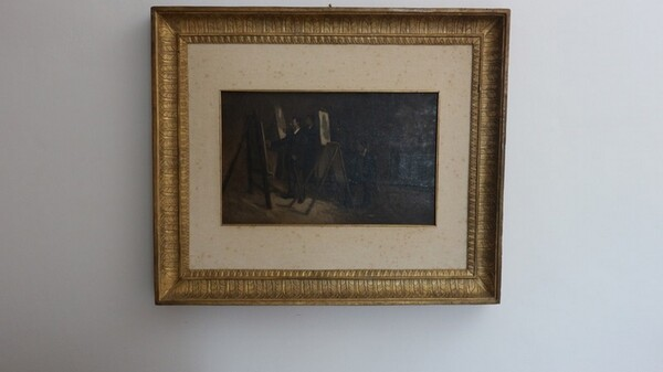 28#5936 Dipinto Pittori Al Cavalletto in vendita - foto 2