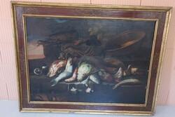 Dipinto Coppia Di Nature Morte Con Pesci - Lotto 37 (Asta 5936)