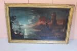 Dipinto Veduta Costiera Con Personaggi - Lotto 38 (Asta 5936)