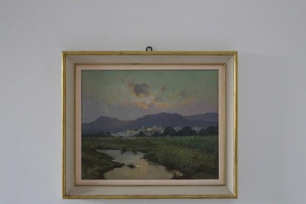 50#5936 Dipinto Veduta Paese in vendita - foto 2