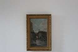 Dipinto Mercato Di Porta Nolana - Lotto 6 (Asta 5936)