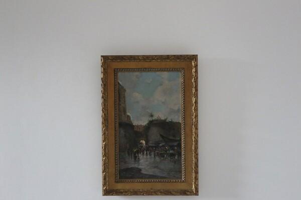 6#5936 Dipinto Mercato Di Porta Nolana in vendita - foto 1