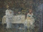 Dipinto Scena Galante Con Pulcinella - Lotto 62 (Asta 5936)