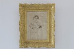 Ritratto Di Elena Cairolo Con Serenata Di Salvatore Di Giacomo - Lotto 68 (Asta 5936)