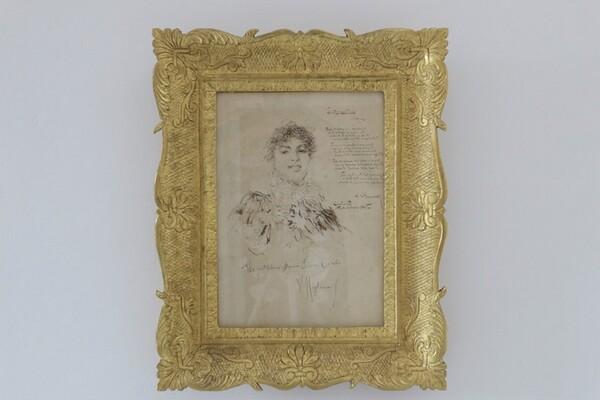 68#5936 Ritratto Di Elena Cairolo Con Serenata Di Salvatore Di Giacomo in vendita - foto 1