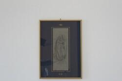 Dipinto Figura Maschile Con Capelli Lunghi E Libro In Mano - Lotto 81 (Asta 5936)