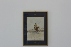 Dipinto Corsa Di Cavalli - Lotto 82 (Asta 5936)