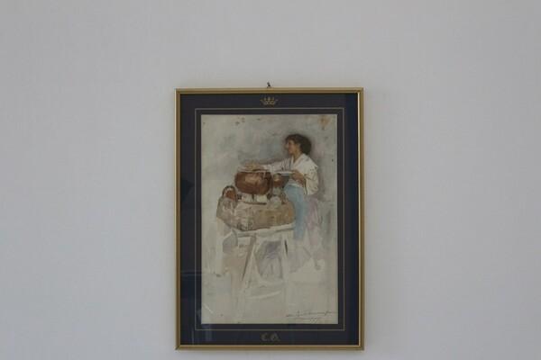 87#5936 Dipinto Venditrice Ambulante in vendita - foto 1