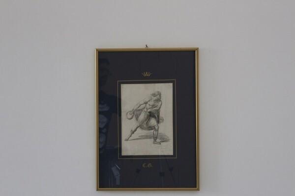 91#5936 Dipinto Figura Di Uomo In Movimento in vendita - foto 1