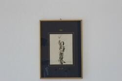 Dipinto Ragazzo In Costume Che Alza Il Cappello - Lotto 95 (Asta 5936)
