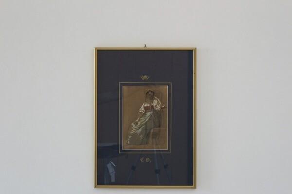 96#5936 Dipinto Ritratto Di Giovane Donna In Costume in vendita - foto 1