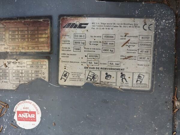 22#6009 Muletto MIC CD30C in vendita - foto 14