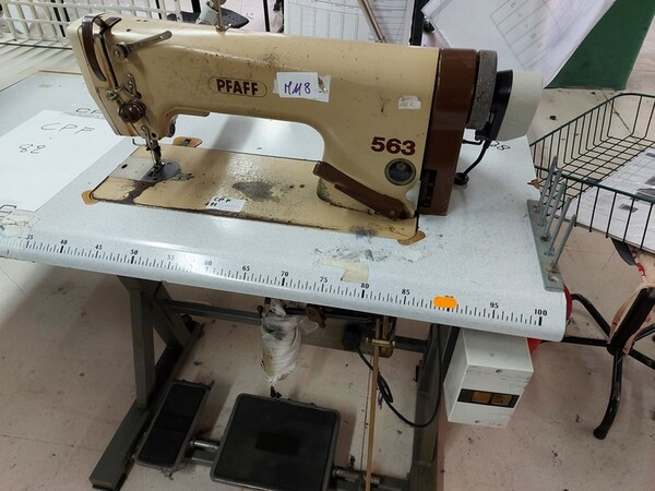 116#6059 Travettatrice Durkopp  e macchine lineari Pfaff in vendita - foto 13