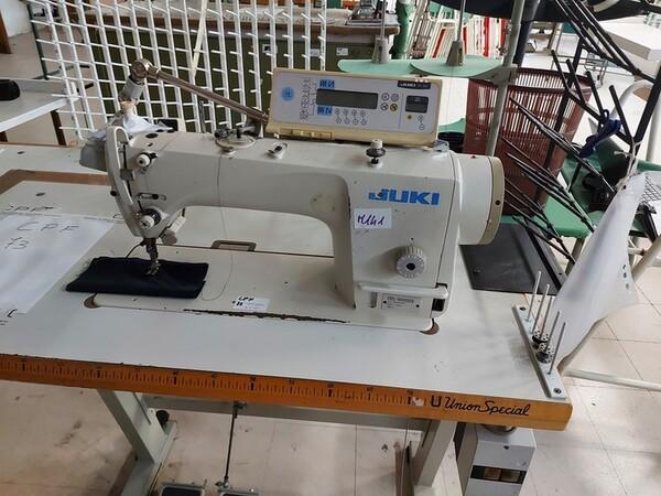 141#6059 Macchini lineari Juki DDL-9000DS e piano da stiro Ticiesse in vendita - foto 1