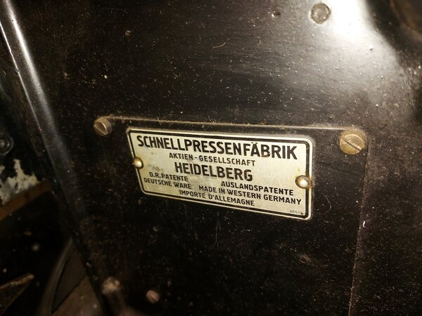1#6096 Tipografica Heidelberg OHT in vendita - foto 9
