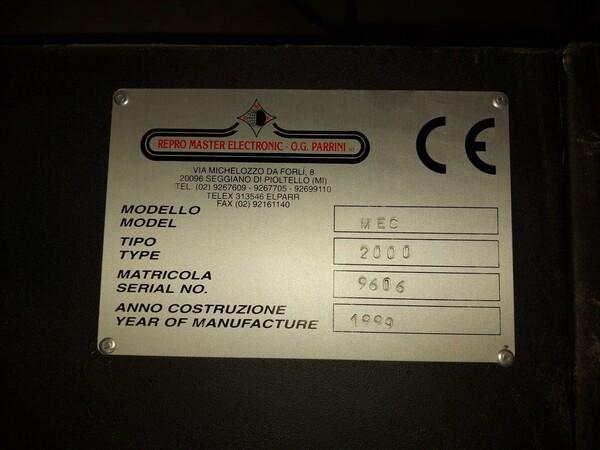 2#6096 Bromografo Mec 2000 e Macchina Polytronic in vendita - foto 2
