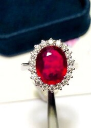 Ruby and diamond cocktail ring - Lot 1 (Auction 6097)