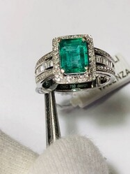 Emerald and Diamond Cocktail Ring - Lot 10 (Auction 6097)