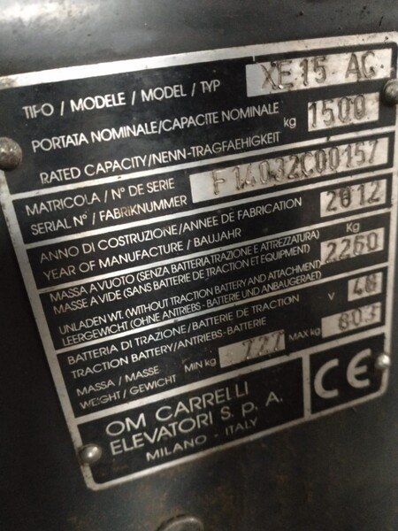3#6113 Carrello elevatore Om in vendita - foto 3