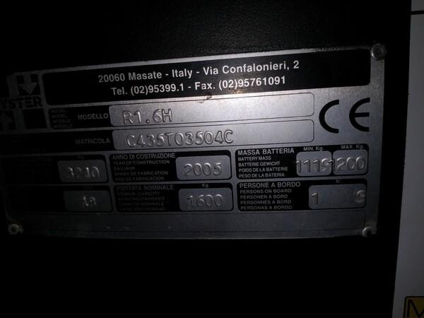 4#6113 Carrello elevatore Hyster in vendita - foto 2