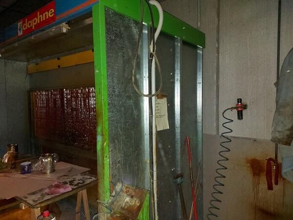 13#6135 Strettoio e cabina di verniciatura a secco in vendita - foto 8