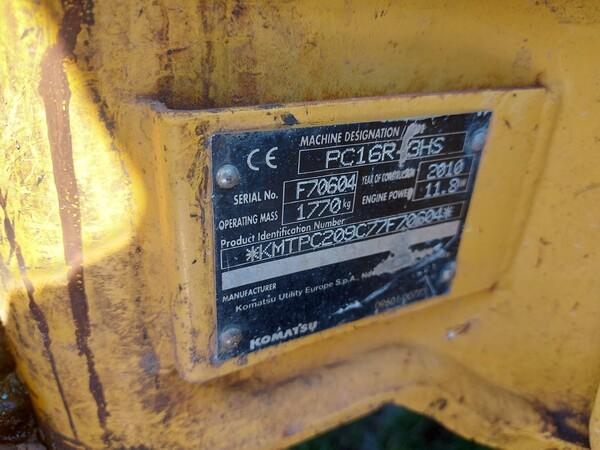 13#6166 Miniescavatore Komatsu PC16 in vendita - foto 2